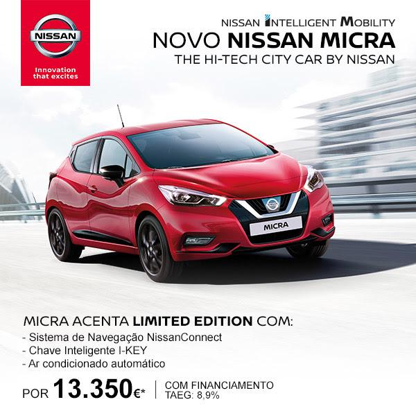 Nissan: Novo Micra Acenta Limited Edition