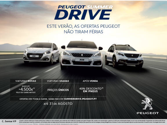 Aproveite a campanha de verão exclusiva da marca Peugeot, no C Santos VP!