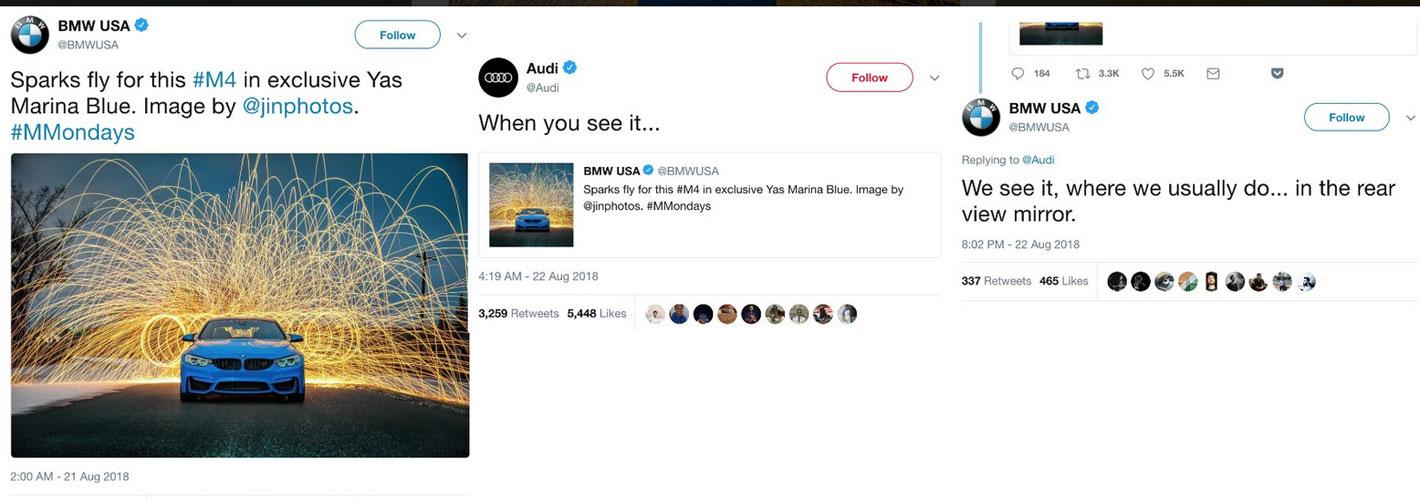 BMW e Audi em picardia no Twitter
