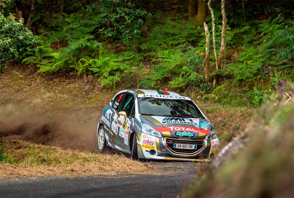 PEUGEOT RALLY CUP IBÉRICA, PE4: PEDRO ANTUNES NA FRENTE