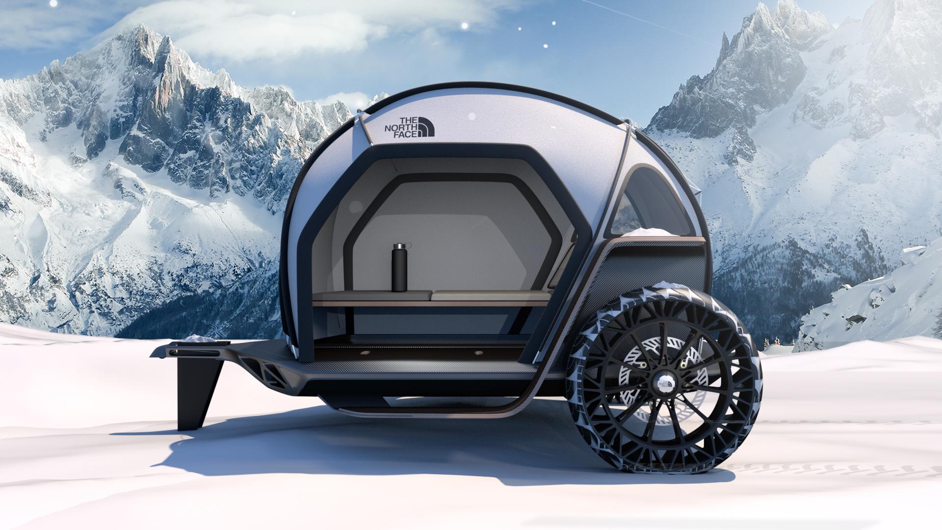 BMW Designworks e The North Face juntaram-se para criar um atrelado para condições extremas